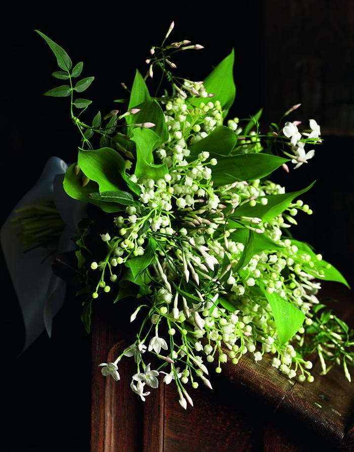 jasmine and lily of the valley bouquet