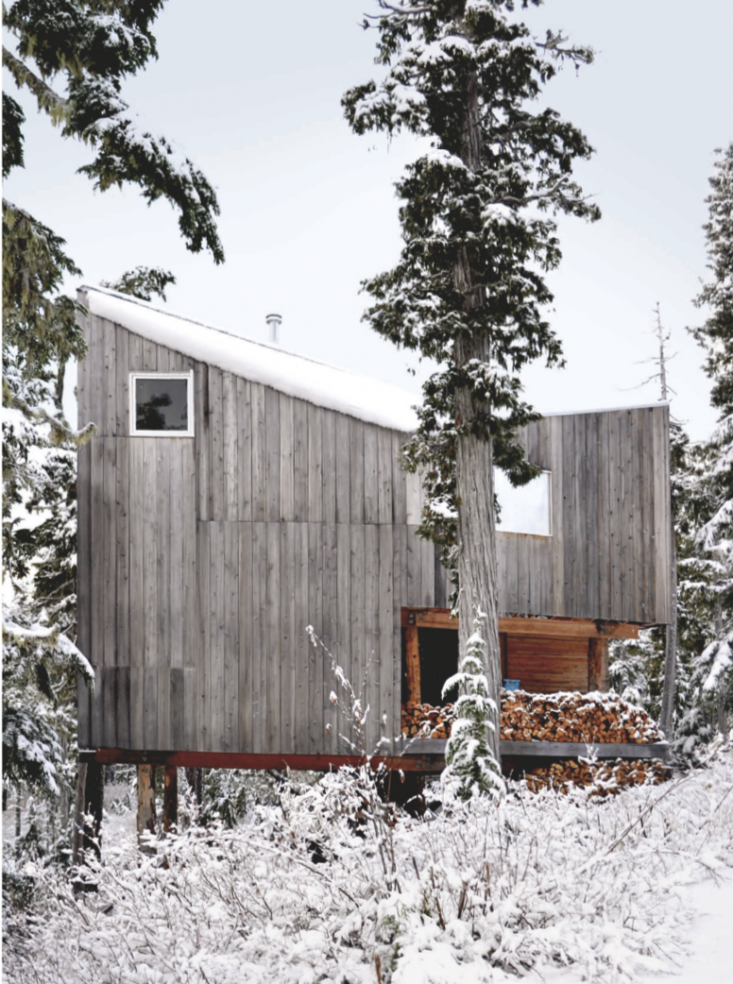 off the grid snowboard cabin on vancouver island gardenista
