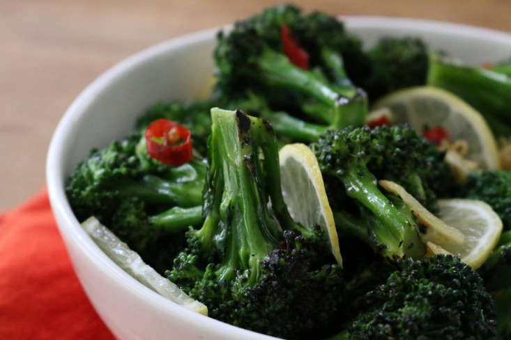 Ottolenghi S Chargrilled Broccoli With Chile And Garlic Gardenista
