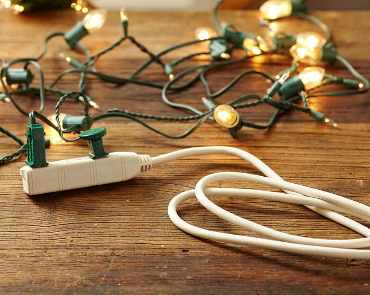 outdoor holiday string lights extension cords l Gardenista