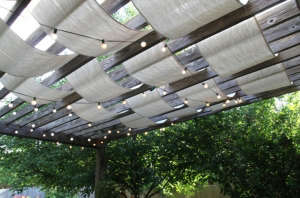 Painter's Drop Cloth Pergola Covering | Gardenista