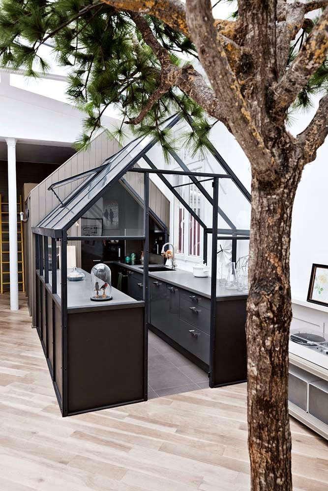 An ikea kitchen in a greenhouse paris edition gardenista for Modern greenhouse design