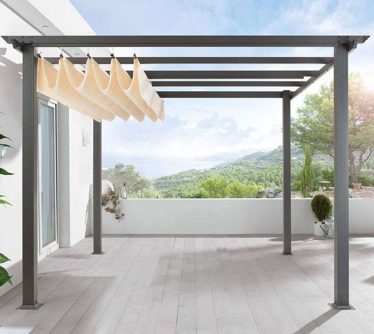diy pergola kit canopy included gardenista. Black Bedroom Furniture Sets. Home Design Ideas
