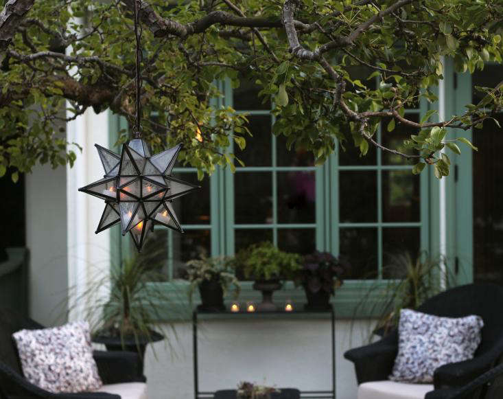 to win a moravian star pendant to light up outdoor parties gardenista. Black Bedroom Furniture Sets. Home Design Ideas