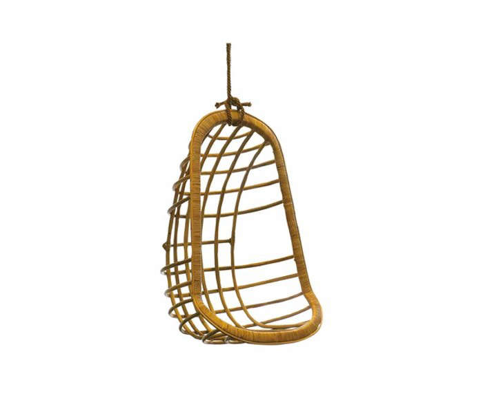 rattan-hanging-chair-layla-grace-gardenista - 10 Easy Pieces: Hanging Chairs - Gardenista