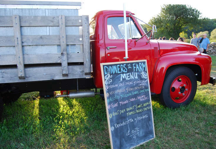 red truck for dinners at the farm – gardenista