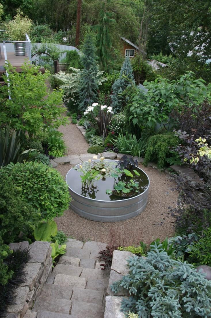 rehab-diary-eugene-oregon-pond-galvanized-trough-stone-stairways-gardenista