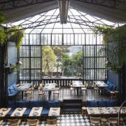 retractable awning at romita restaurant in mexico city by mimi giboin for gardenista