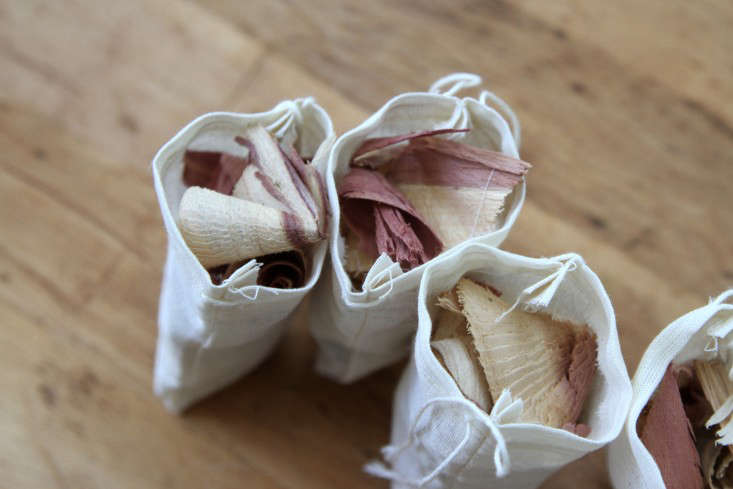 sachets filled with cedar