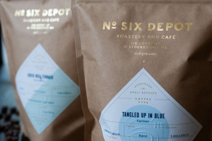 six depot bags of coffee beans by Jennifer May ; Gardenista