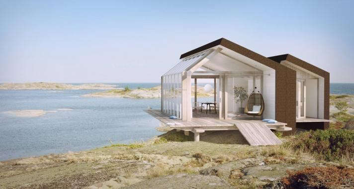 Architect visit beach cabins from sommarn jen gardenista for Prefab beach homes
