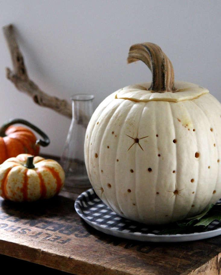 Diy pumpkin carving ideas milky way edition gardenista