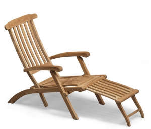 Teak Steamer Deck Chair ; Gardenista