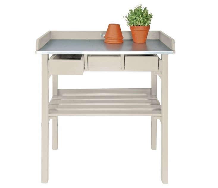 Pine Wood And Zinc Garden Bench: Gardenista