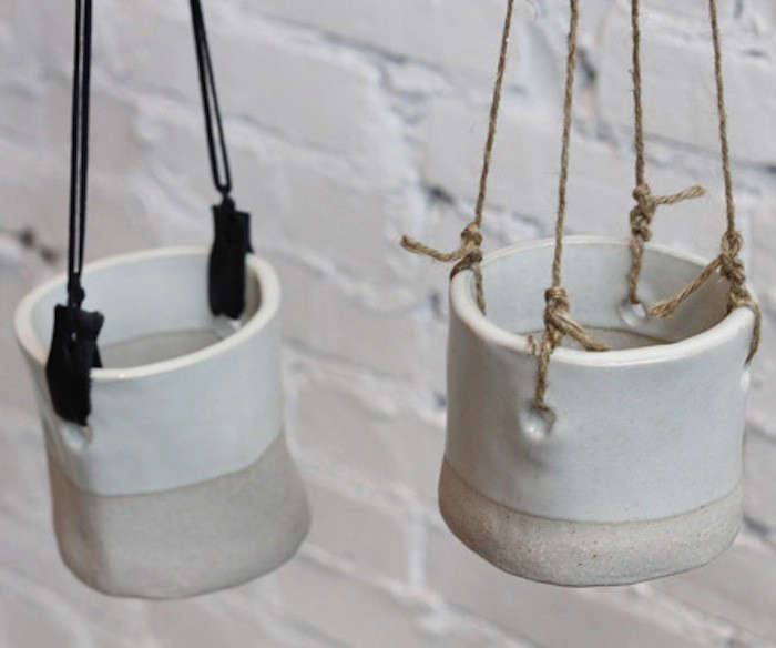 Ceramic Hanging Planters Indoor #9: Above: LA-based TW Workshop Offers Several Hanging Planters. For A White  Look, We Like The Snowy Hanging Pot; $65.