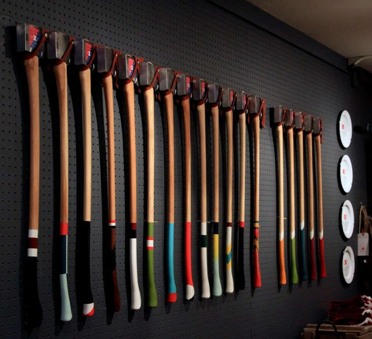 wall of axes best made_erinboyle_gardenista