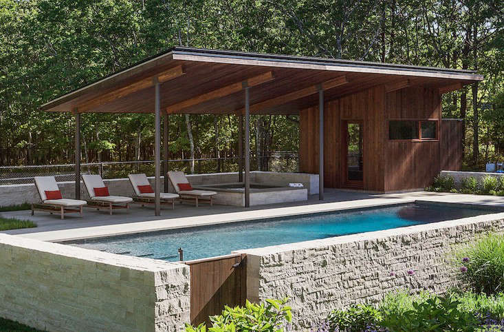 long island summer a modern pool pavilion in water mill. Black Bedroom Furniture Sets. Home Design Ideas