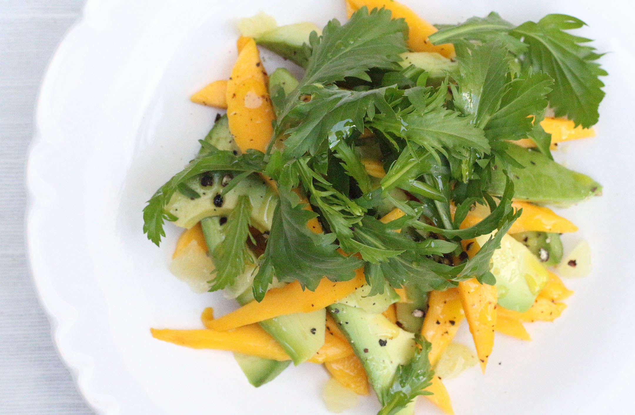 winter cress and mango salad_marie viljoen