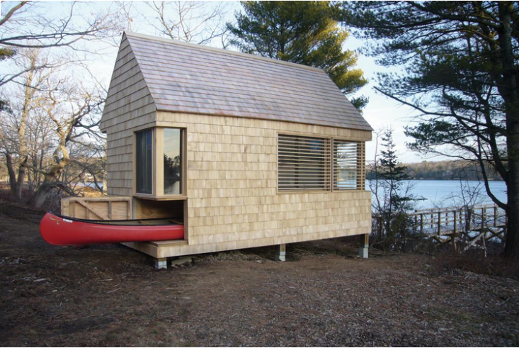 Shed story 10 stylish sanctuaries for storage gardenista for Canoe storage shed