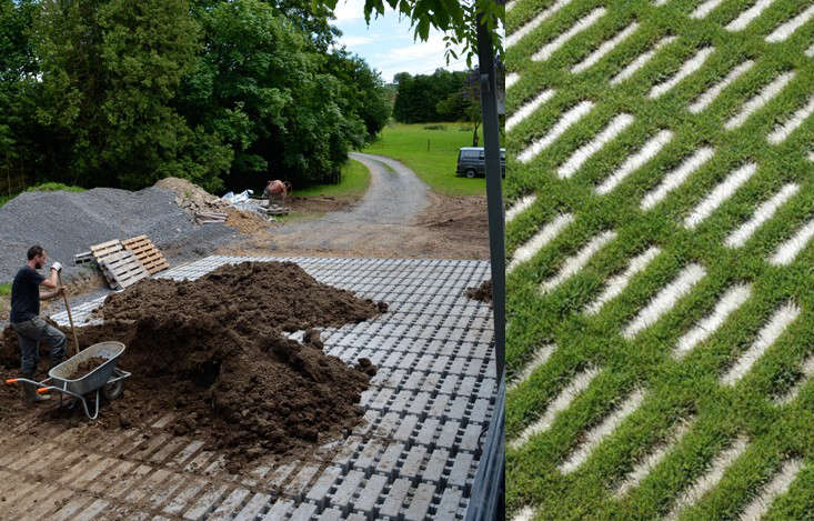 Green Your Driveway With Permeable Concrete Pavers Gardenista