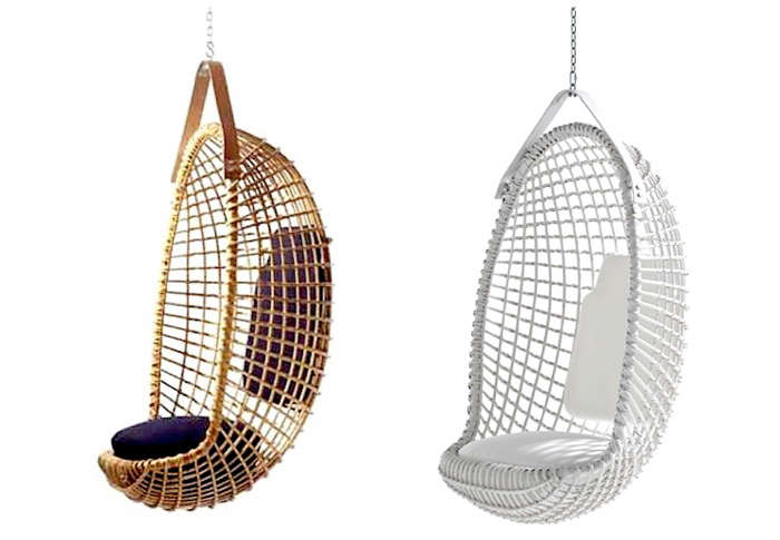 Above: From Seattle Based Ladies U0026 Gentleman Studio, The Ovis Hanging Chair  Pairs A Felted Navajo Wool Sling (also Available In Leather) With A Wood  And ...