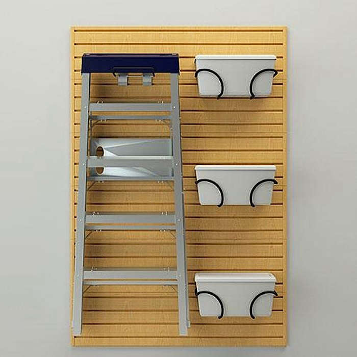 Flow-Wall-Storage-Systems-Ladder-and-Bin-Bracket-Combo-in-Maple-Gardenista
