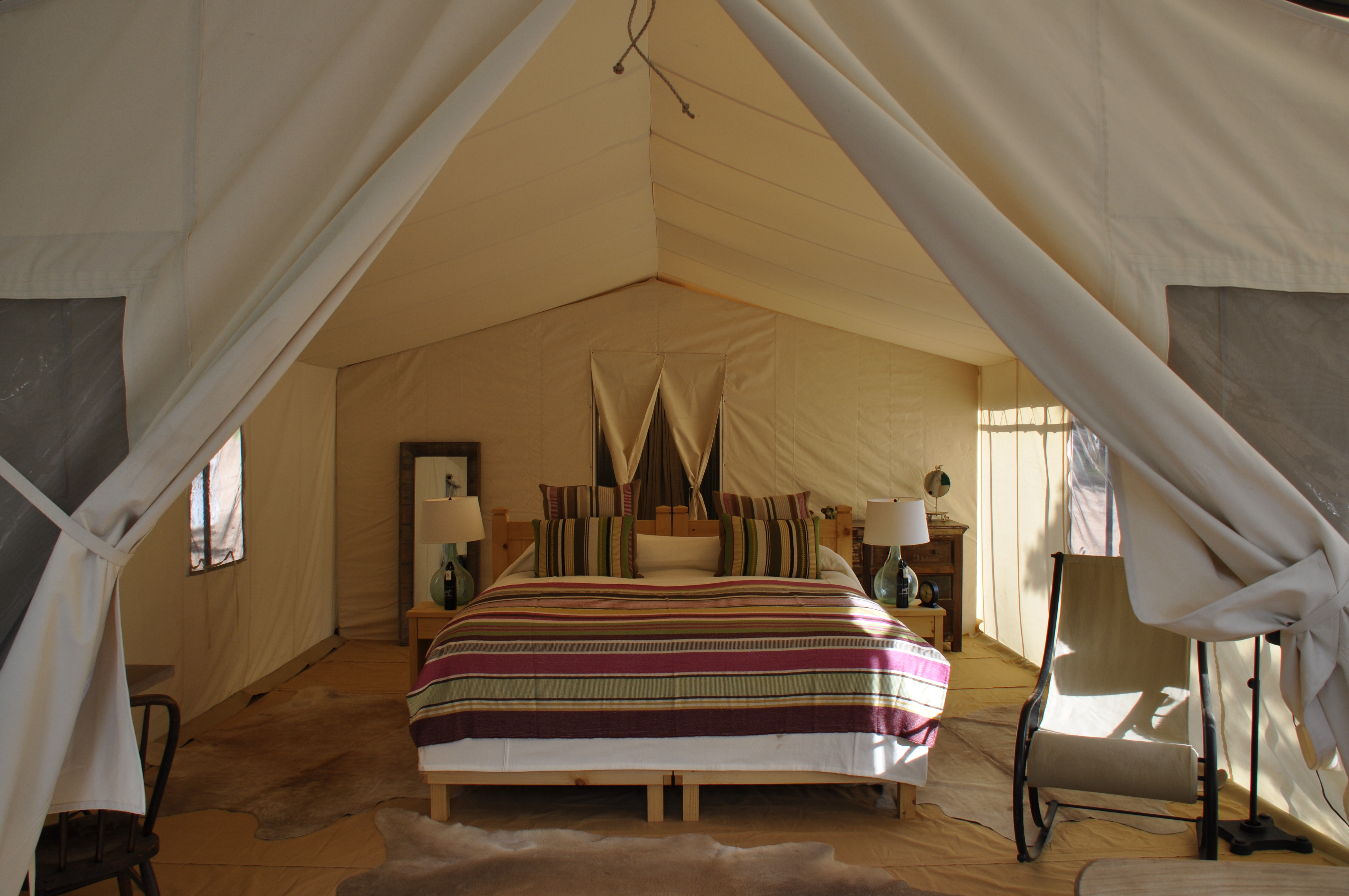 Safari-Style Camping In Colorado, Glam Bedding Included
