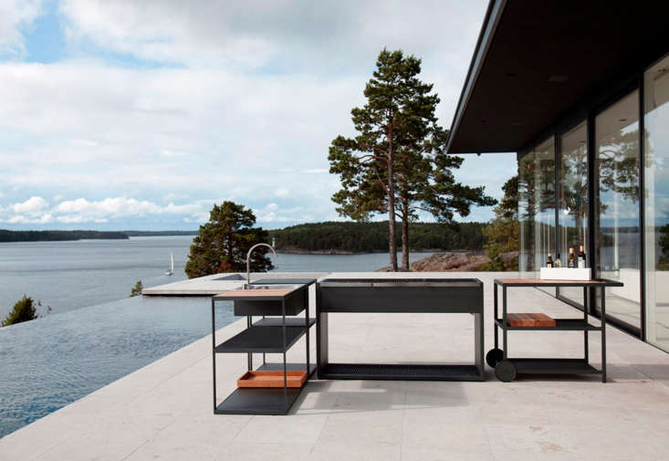 Designed by Swedish interior architects for Röshults, the Garden Outdoor Kitchen is meant to accompany one of their outdoor grills and can be situated anywhere. See  Easy Pieces: Outdoor Kitchen Workstations on Gardenista for similar picks.