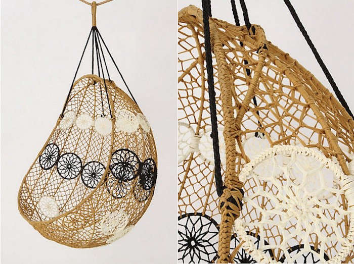 knotted melati hanging chair gardenista