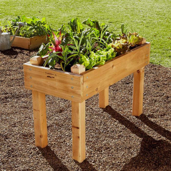 Cedar Bed On Legs Kit, How To Build A Raised Garden Bed With Legs Pdf