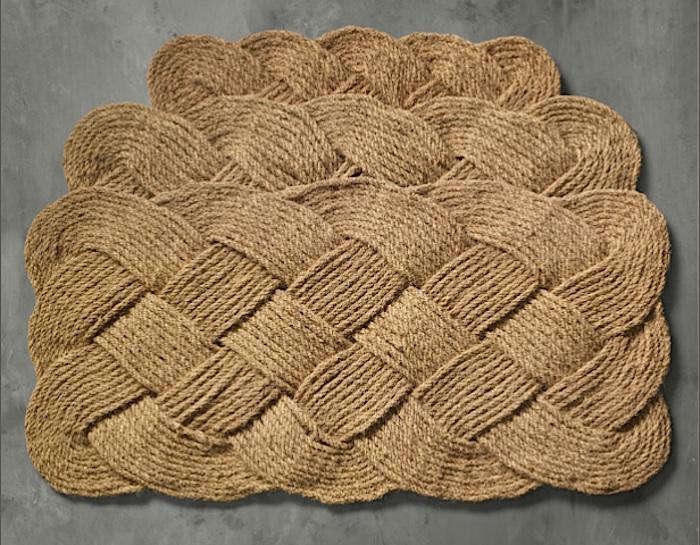 Braided Coir Doormat Gardenista
