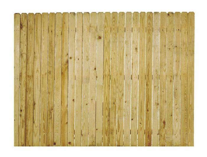 Whitewood Dog Ear Privacy Fence Panel Gardenista