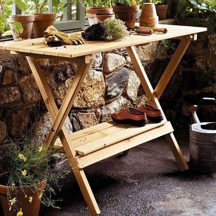 Diy Succulent Potting Mix Australia: Simple Potting Bench / Console Table: Gardenista