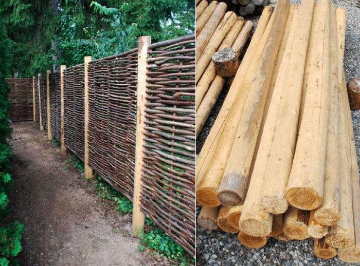 Hazelwood Hurdle Fence Panel Gardenista