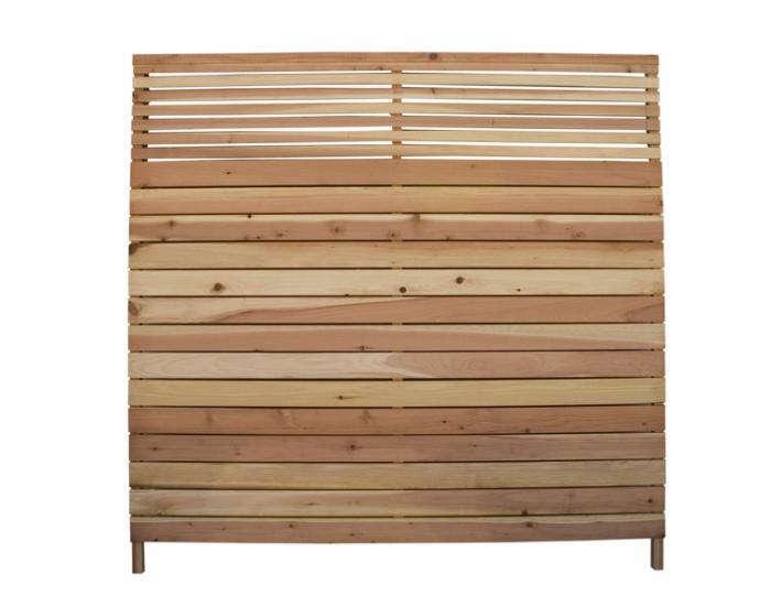 6 Ft X 6 Ft Redwood Flat Top Wood Fence Panel Gardenista