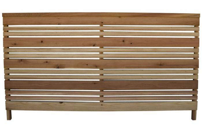- 3-ft X 6-ft Redwood Flat-Top Wood Fence Panel