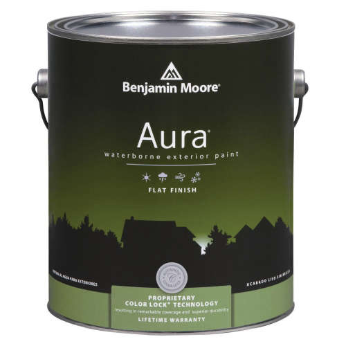 benjamin moore 39 s aura flat waterborne exterior paint gardenista. Black Bedroom Furniture Sets. Home Design Ideas