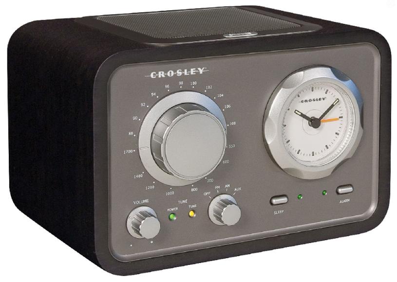 crosley duet vintage radio alarm clock gardenista. Black Bedroom Furniture Sets. Home Design Ideas