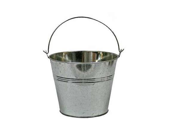 6 in galvanized metal pail gardenista for Galvanized well bucket