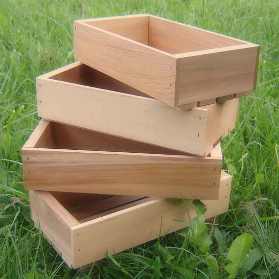 Rustic Wood Seed Starting Trays