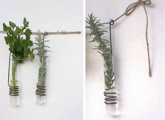Diy twisted wire vases gardenista for Test tube flower vase rack