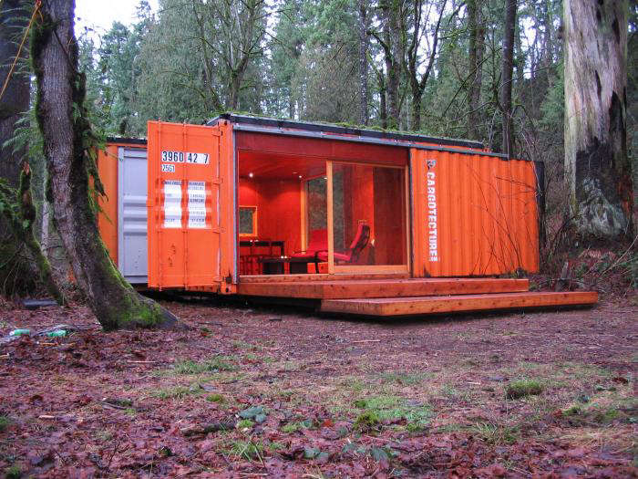 Little Cargo Container In The Big Woods Gardenista
