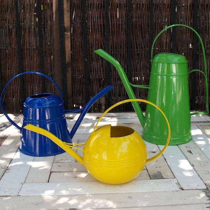 Metal Watering Cans In Primary Colors Gardenista