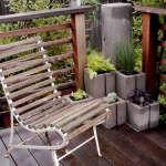 diy-concrete-planters-white-iron-chair