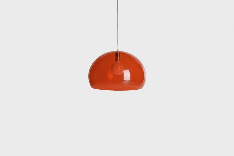 kartell red pendant lamp cover
