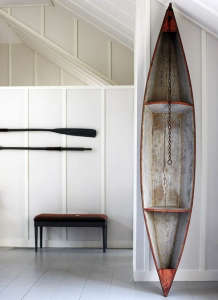 Oars as decor; boathouse style; Remodelista