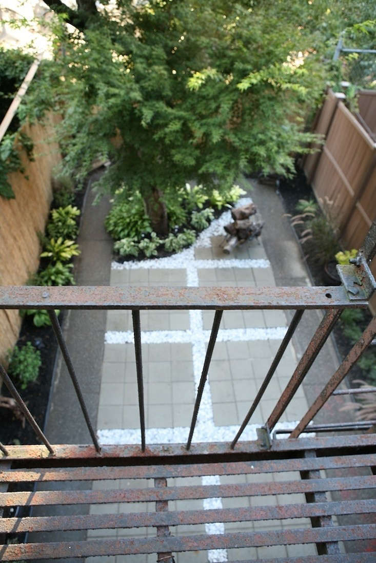Before and After Crown Heights Brooklyn backyard landscape Ishka Designs