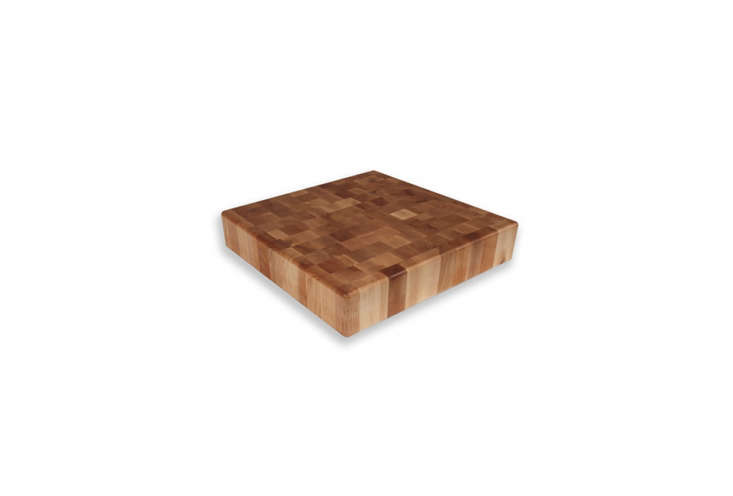 End-grain construction is made from small rectangular blocks arranged so that the ends (with growth rings showing) are visible on the surface. The strongest and most expensive type of butcher block, it's great for surfaces dedicated to cutting, because it camouflages knife marks and is gentle on blade edges (they slide into the grain rather than against it).