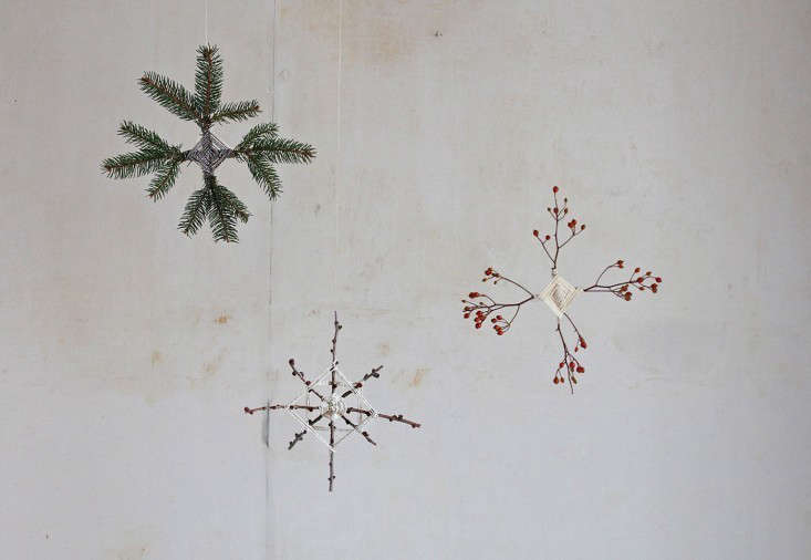 Foraged Branch Ornaments by Justine Hand | Remodelista