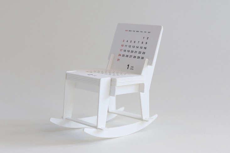 Rocking Chair Calendar | Remodelista